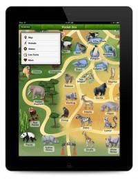 Pocket Zoo's home screen replicates a zoo 'map.'