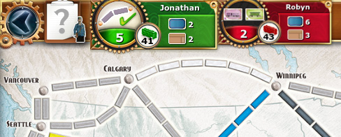 Ticket to Ride player actions