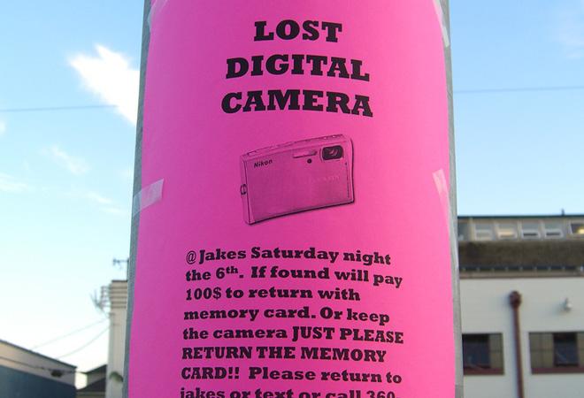 Lost Digital Camera