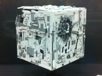 Borg Cube lego structure