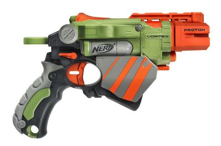 NERF Vortex Lumitron Disc Gun Dart Tag Pistol Blaster Only Green