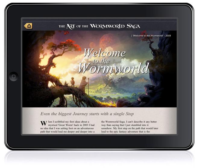 Wormworld Saga on iPad