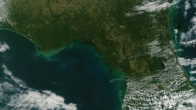Section of NPP VIIRS First Image
