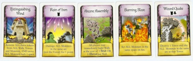 Castle Panic: The Wizard's Tower wizard cards