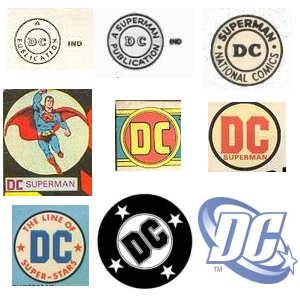 DC Logos 1940's — 2011