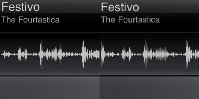 Retina Display to the left, regular iPad display on the right