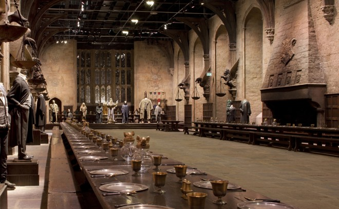 The Great Hall of Hogwarts, photo courtesy of Warner Brothers