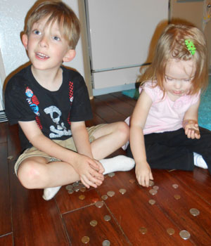 Max and Nora counting change