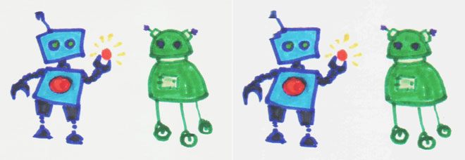 robots scanned