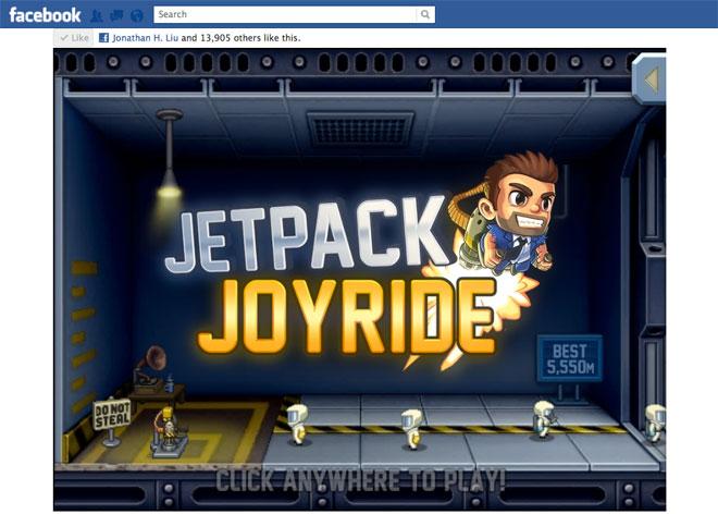 Facebook Jetpack Joyride