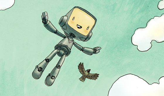 Robot and Sparrow sample