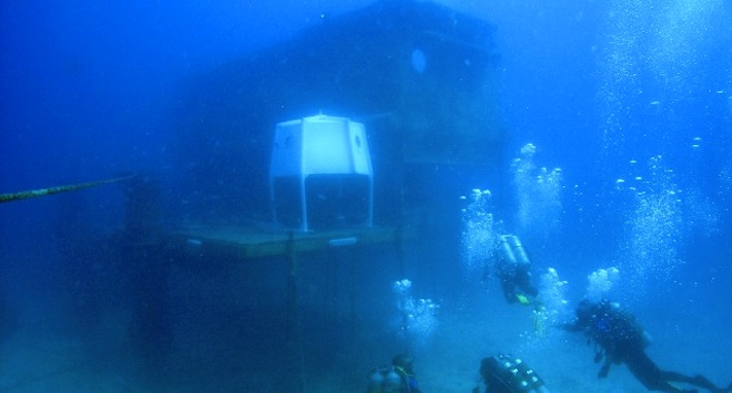 The Aquarius Reef Base during the NEEMO 14 Mission (Image: NASA)