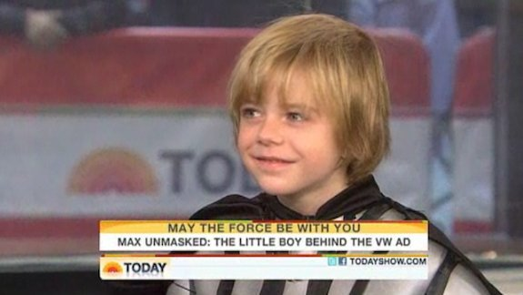 """Max Page, star of VW's """"The Force"""" commercial from 2011."""
