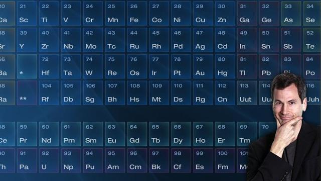 Periodic table from Hunting the Elements