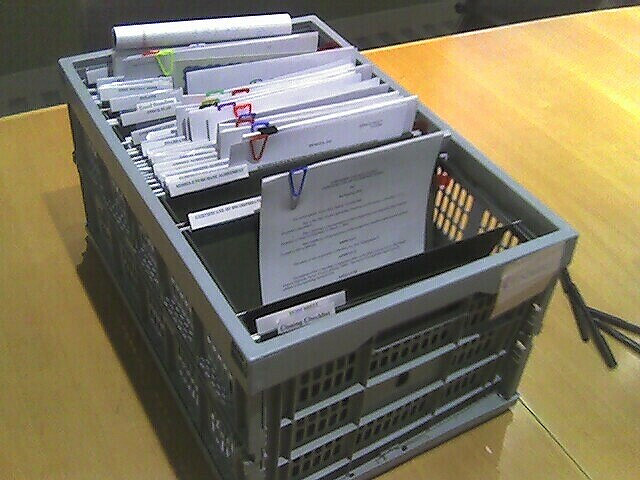 Box of legal documents.