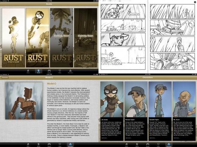 Rust app screenshots