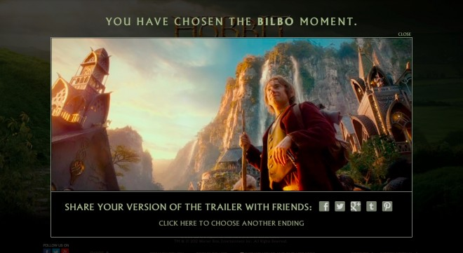 Still from the new <cite>Hobbit</cite> trailer. Bilbo about to embark on the quest of a lifetime. (Image: Warner Bros. Entertainment Inc.)