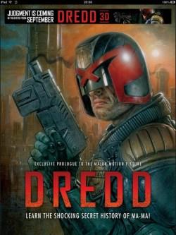Dredd cover art by Greg Staples