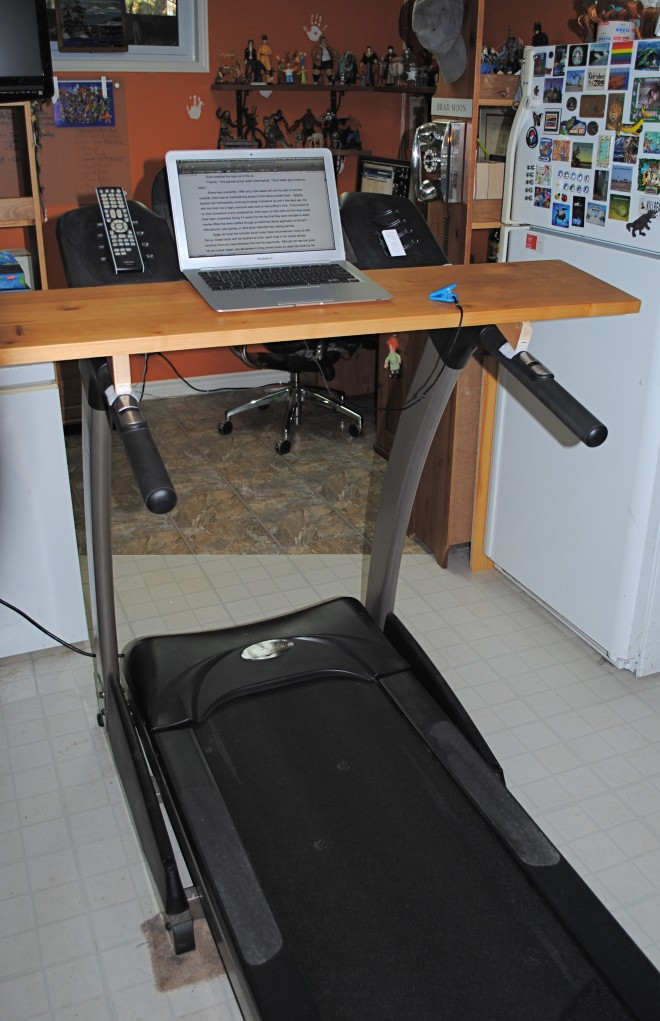 MacGyvering Your Own Treadmill Desk  GeekDad