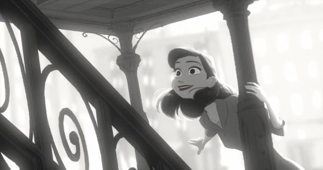 Meg, the heroine of PAPERMAN