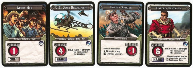 Conquest of Planet Earth resistance cards