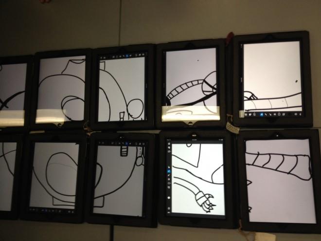 Robot image on iPad
