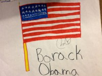 Picture drawn by Jason's Daughter -- and signed by the President.