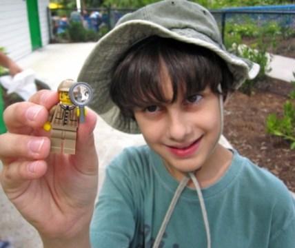 Lego Fan With Lego Minifigure at Legoland Florida