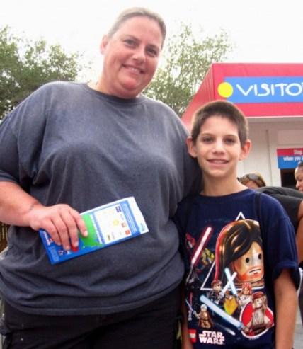 Michael, 11, and his Mom at Legoland Florida