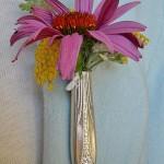 wear a plant, repurposed flatware,