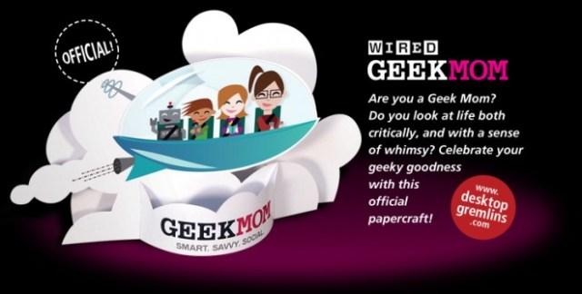 geekmom papercraft banner