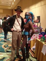 Aayla Secura and Indiana Jones / Image: Brian Sullivan