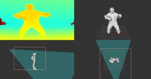 SoftKinetic-Optrima's software analyzes the output from the radarlike camera, assigns depth to each pixel, and creates a body model for controller-free, gesture-based interaction.
