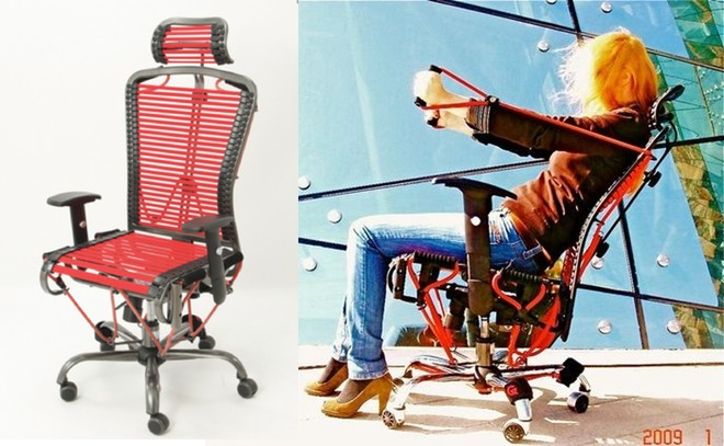 GymyGym Office Chair with BuiltIn Gymnasium  WIRED