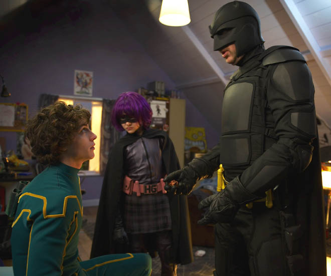 Big Daddy, Hit Girl e Kick-Ass