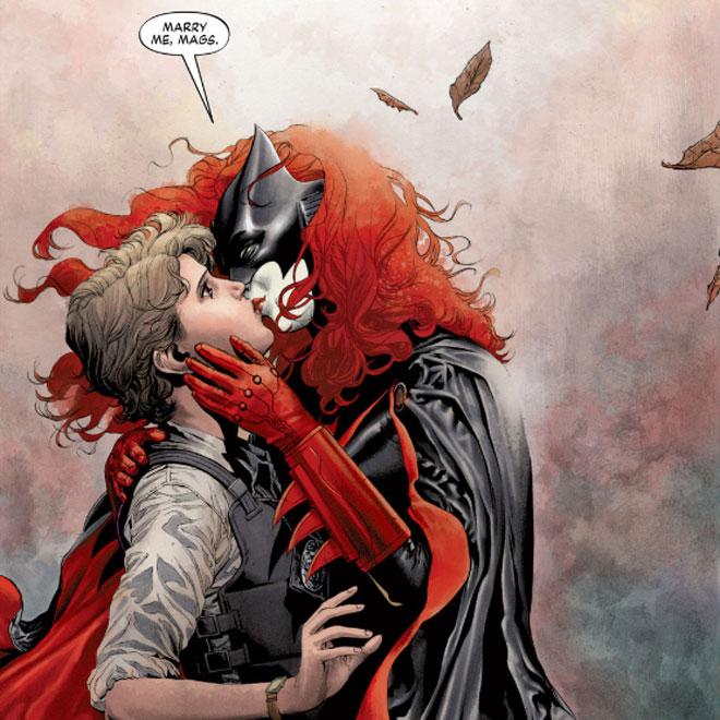 Batwoman DC Comics New 52 marriage proposal to Maggie Sawyer by JH Williams III