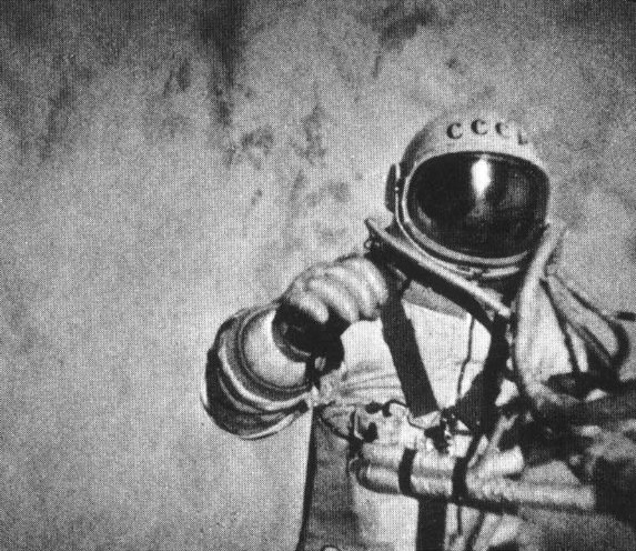 Aleksey Leonov walking in space. NASA.