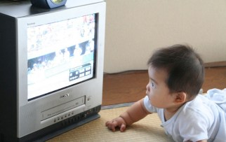 Image result for baby watching tv