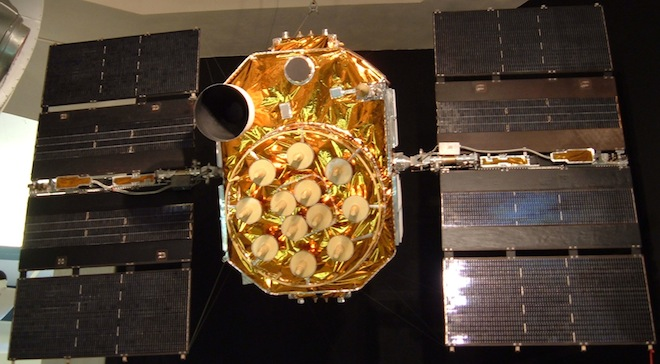 An unlaunched GPS unit, which looks like probably the most satellitey satellite ever. Image: Scott Ehardt