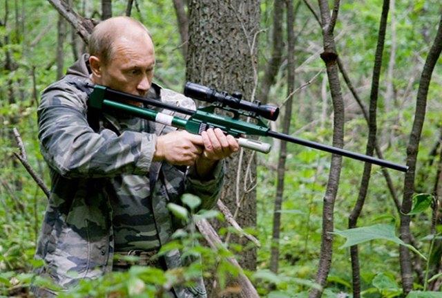 Vladimir Putin and a tranquilizer gun