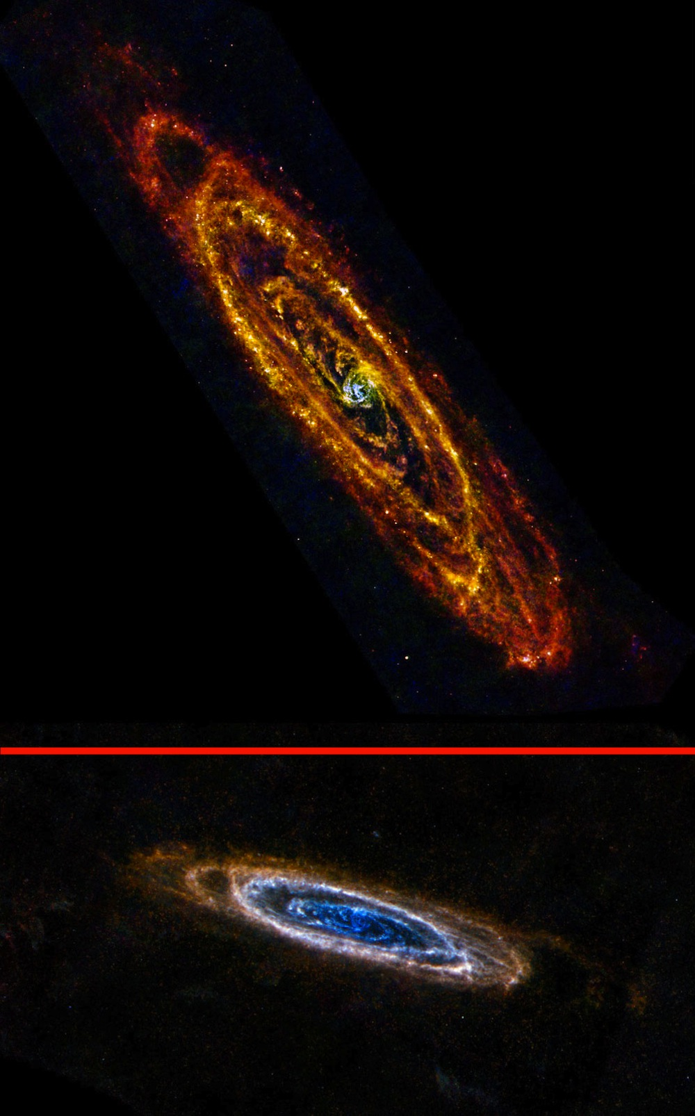 Two New Views of Andromeda