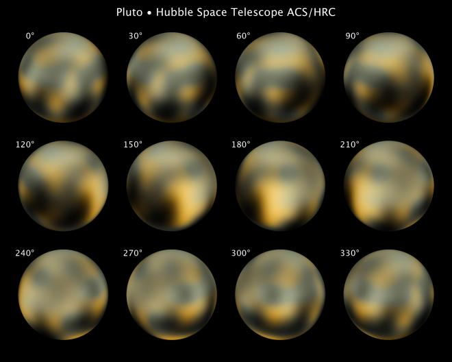 The most detailed view of Pluto, taken by Hubble from 2002 to 2003, hints at how the surface changes.