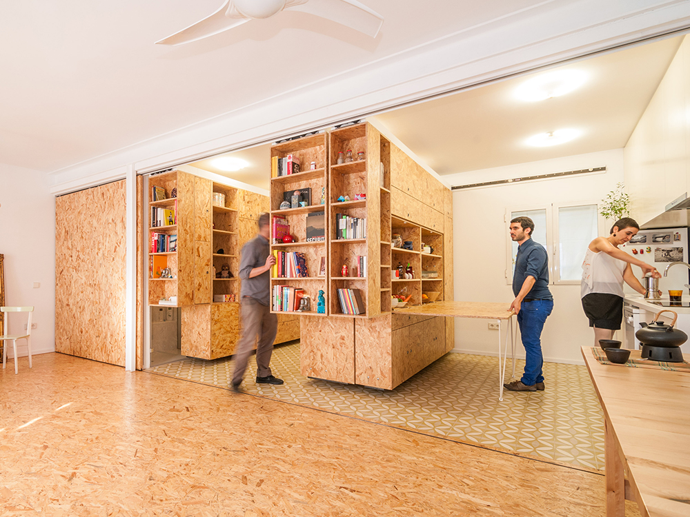 Moving Walls Transform a Tiny Apartment Into a 5Room Home  WIRED