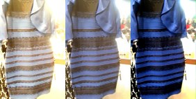 What Color Blue and Black Dress