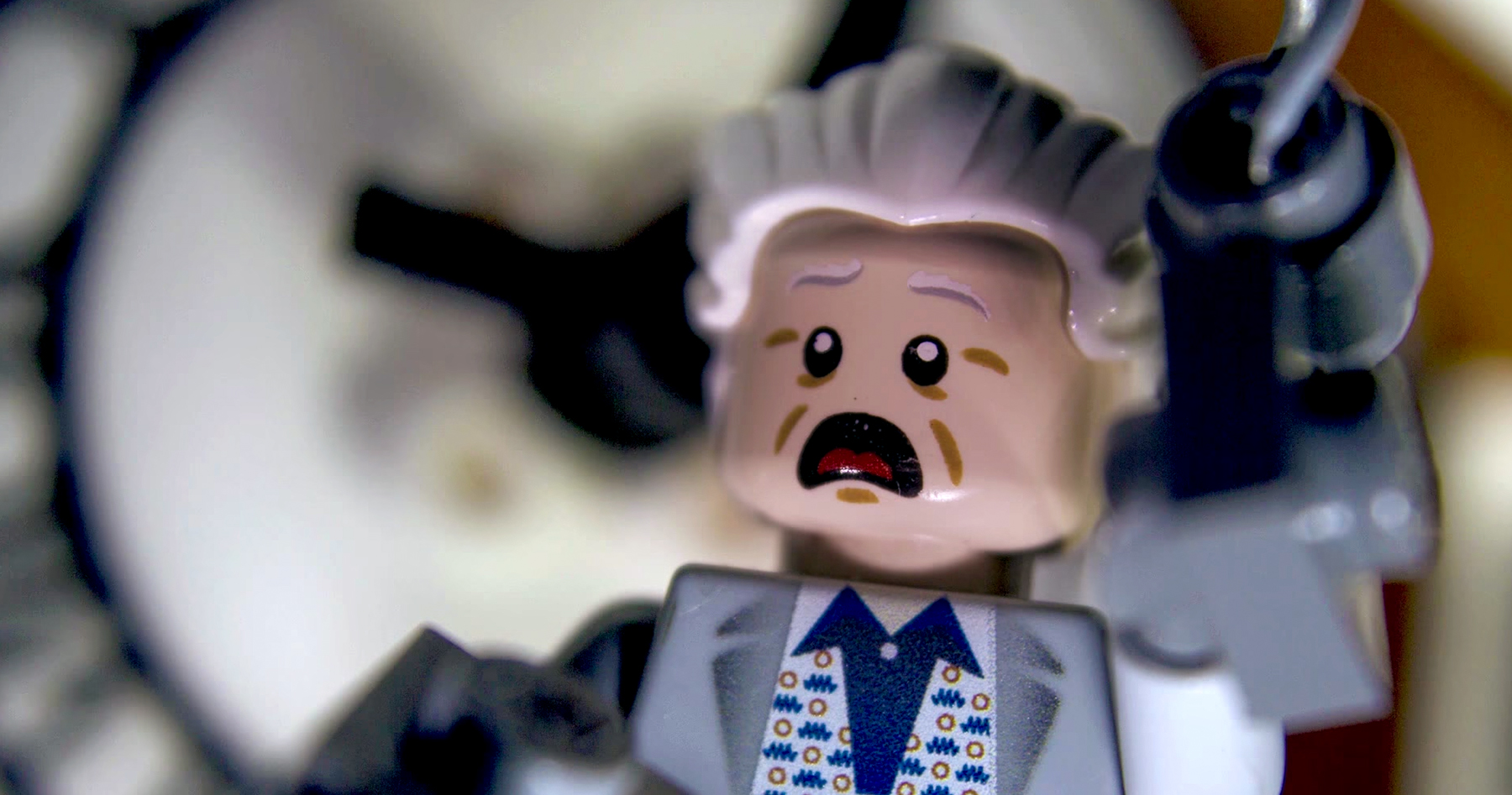 Back To The Future S Clock Tower Scene Remade With Lego