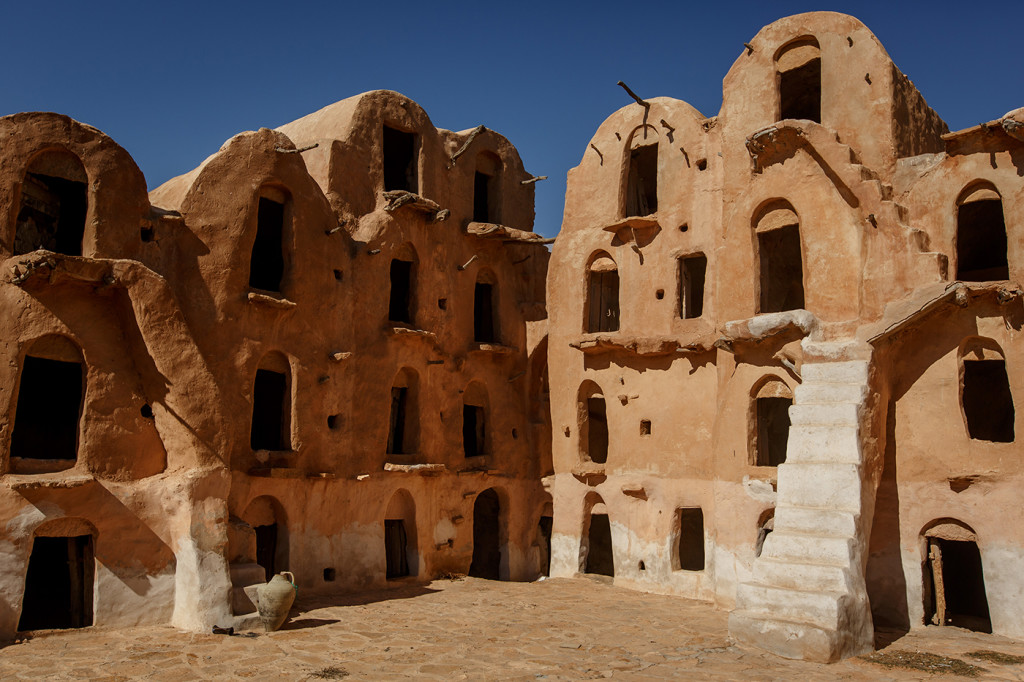 Another granary at Ksar Ouled Soltane. These dubbed as Mos Espa slave quarters. Tataouine district, Tunisia.