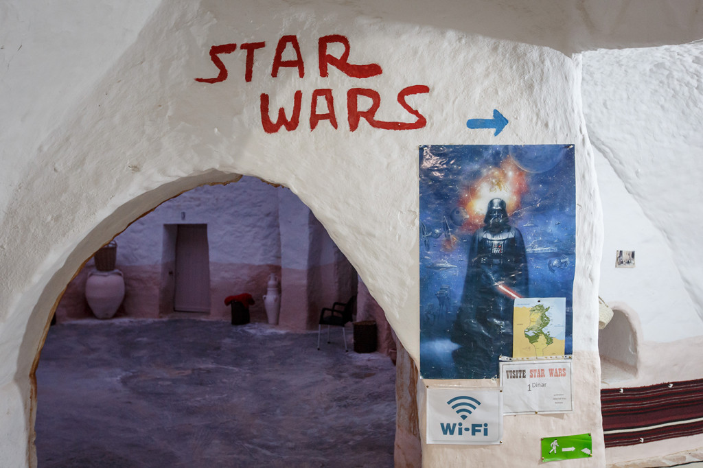 Some Star Wars memorabilia at the Hotel Sidi Driss, Matmata, Tunisia