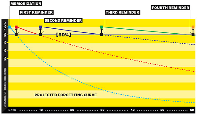The forgetting curve and how the Spaced Repetition System works