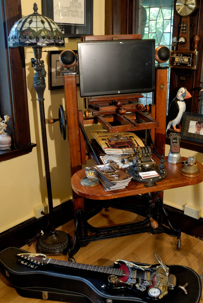 Geek Gives New England Home an Extreme Steampunk Makeover