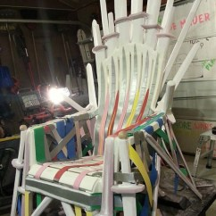 Home Depot Adirondack Chair Plastic Chiavari Chairs Rental How To Make Your Own Iron Throne From A Lawn | Wired